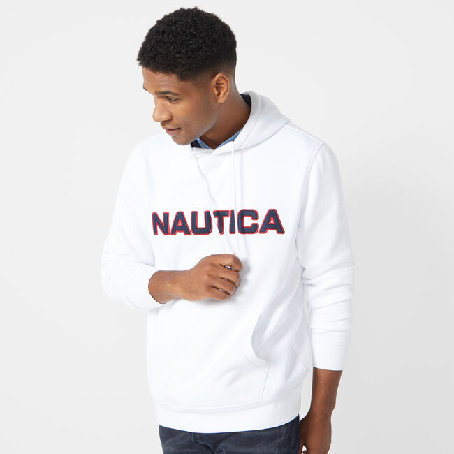 PULLOVER LOGO HOODIE,Bright White,large