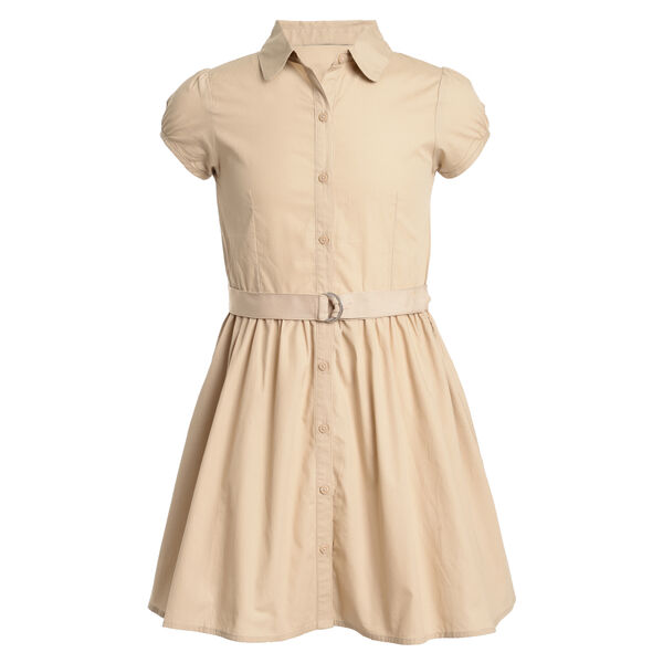 GIRLS' SHORT SLEEVE SHIRTDRESS - Tavern
