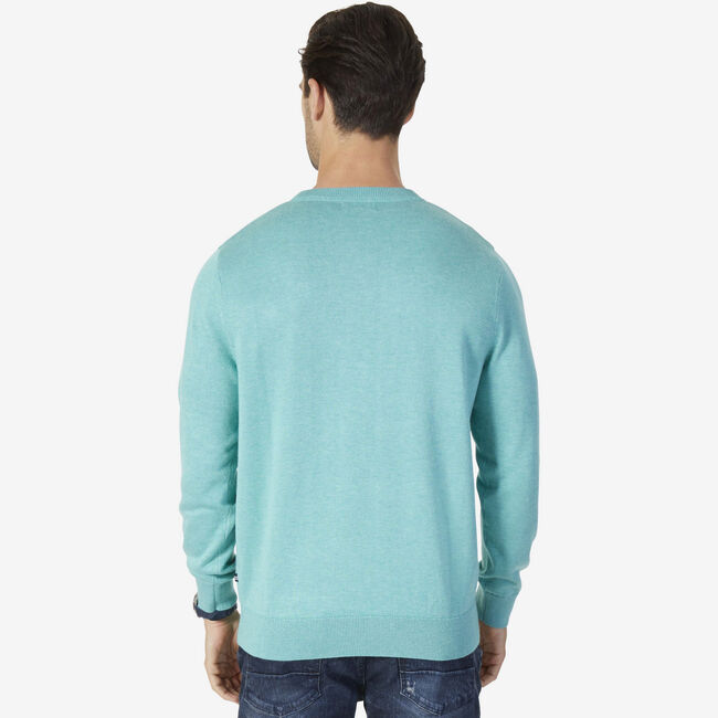 Long Sleeve Crewneck Pullover,Pine,large
