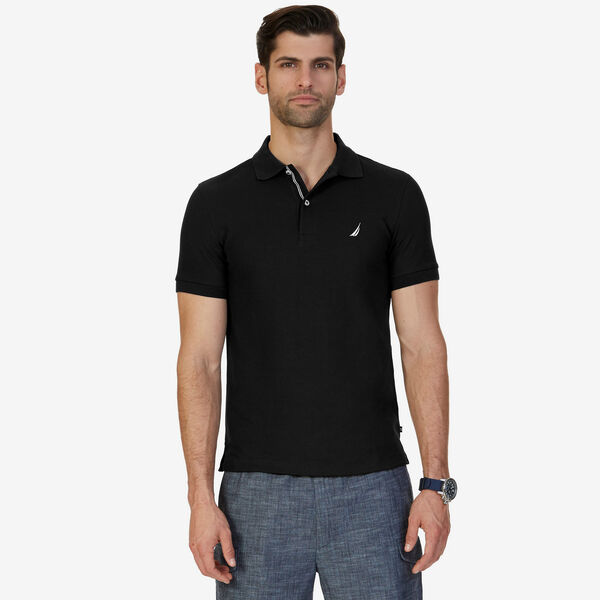Slim Fit Performance Deck Polo - True Black