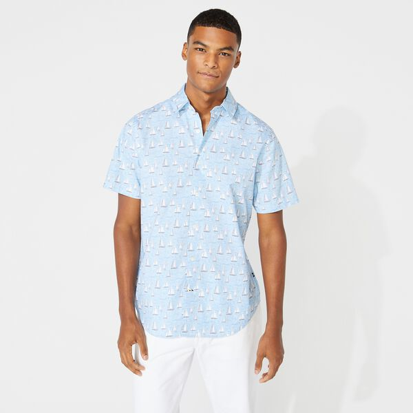NAVTECH SAILBOAT PRINT SHIRT - Varsity Blue Wash