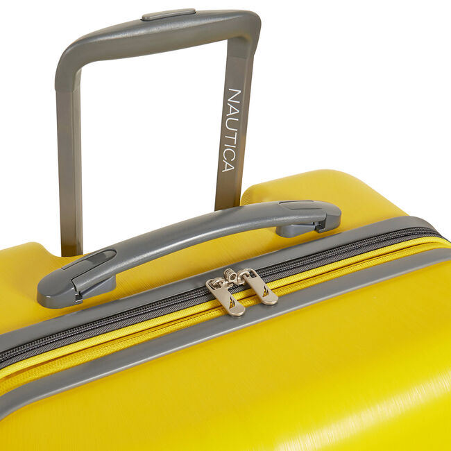 Lifeboat Expandable Spinner Luggage,Yellow,large