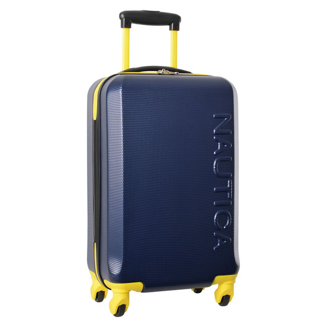 "Marina 20"" Hardside Spinner Luggage in Navy/Yellow,Navy,large"