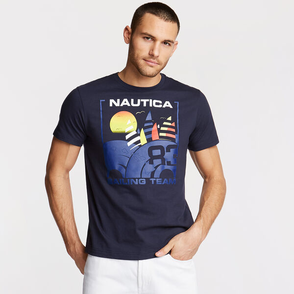 Sailing Team Graphic T-Shirt - Navy