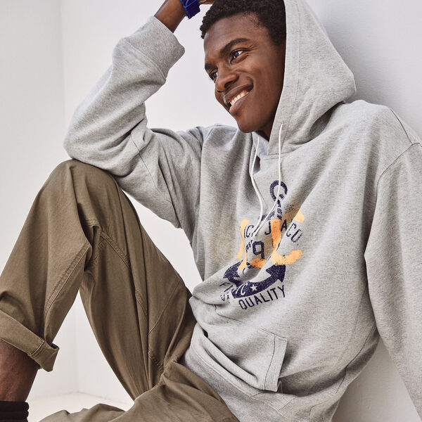 NAUTICA X URBAN NECESSITIES HOODIE - Grey Heather