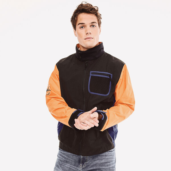 REISSUE COLORBLOCK SCUBA GRAPHIC JACKET - True Black