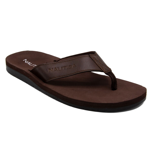 Camren Flip Flop Sandal in Brown - Wood Brown