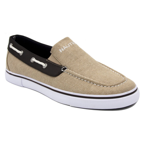 Doubloon Boat Shoe in Tan - Coastal Tan