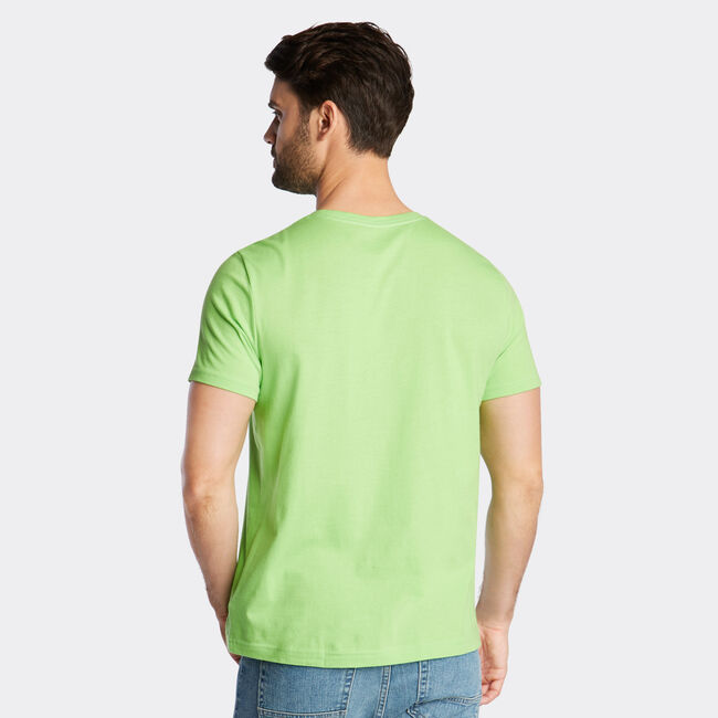 JERSEY T-SHIRT IN SAILBOAT GRAPHIC,Freshlime,large