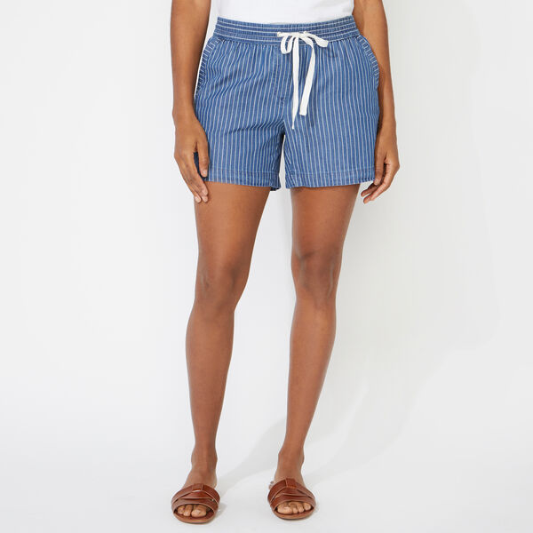 "4"" BOAT STRIPE TWILL SHORTS - Angel Blue"
