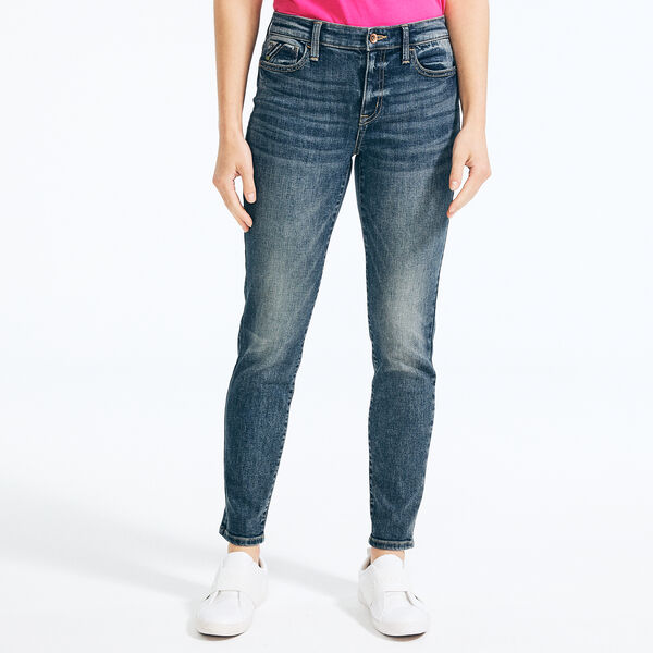 NAUTICA JEANS CO. MID-RISE SKINNY DENIM - J Navy