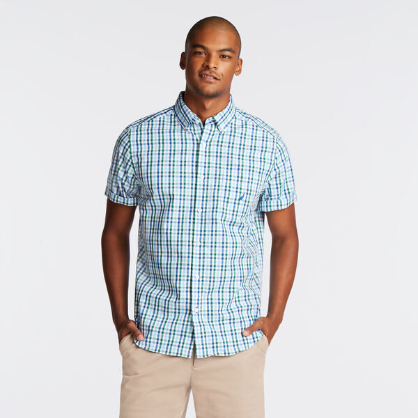 CLASSIC FIT SHORT SLEEVE SHIRT IN PLAID - Spruce