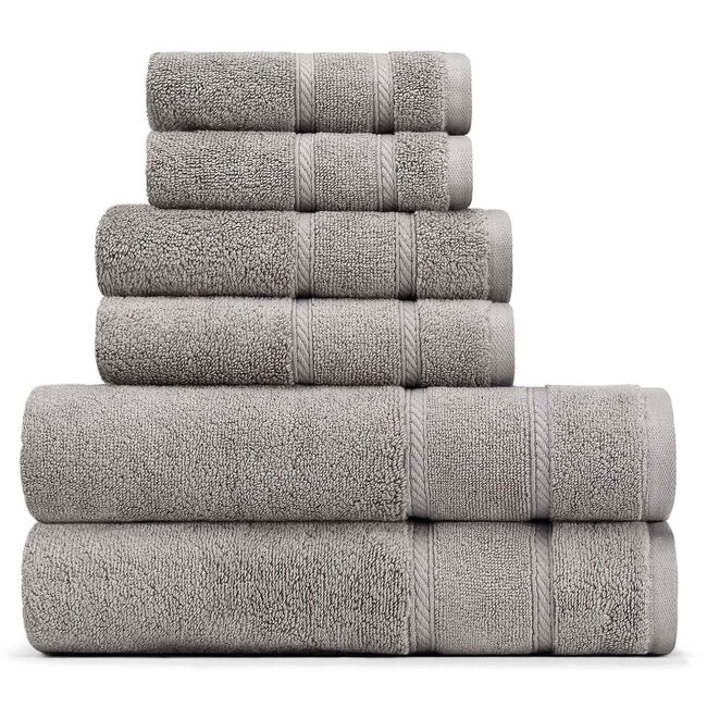 Belle Haven Towel Set,Grey Heather,large