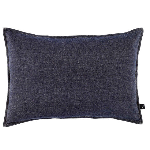 Seaward Denim Rectangular Throw Pillow