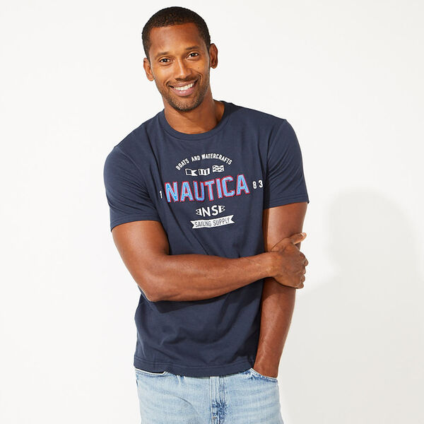 BOATS AND WATERCRAFTS GRAPHIC TEE - Pure Dark Pacific Wash