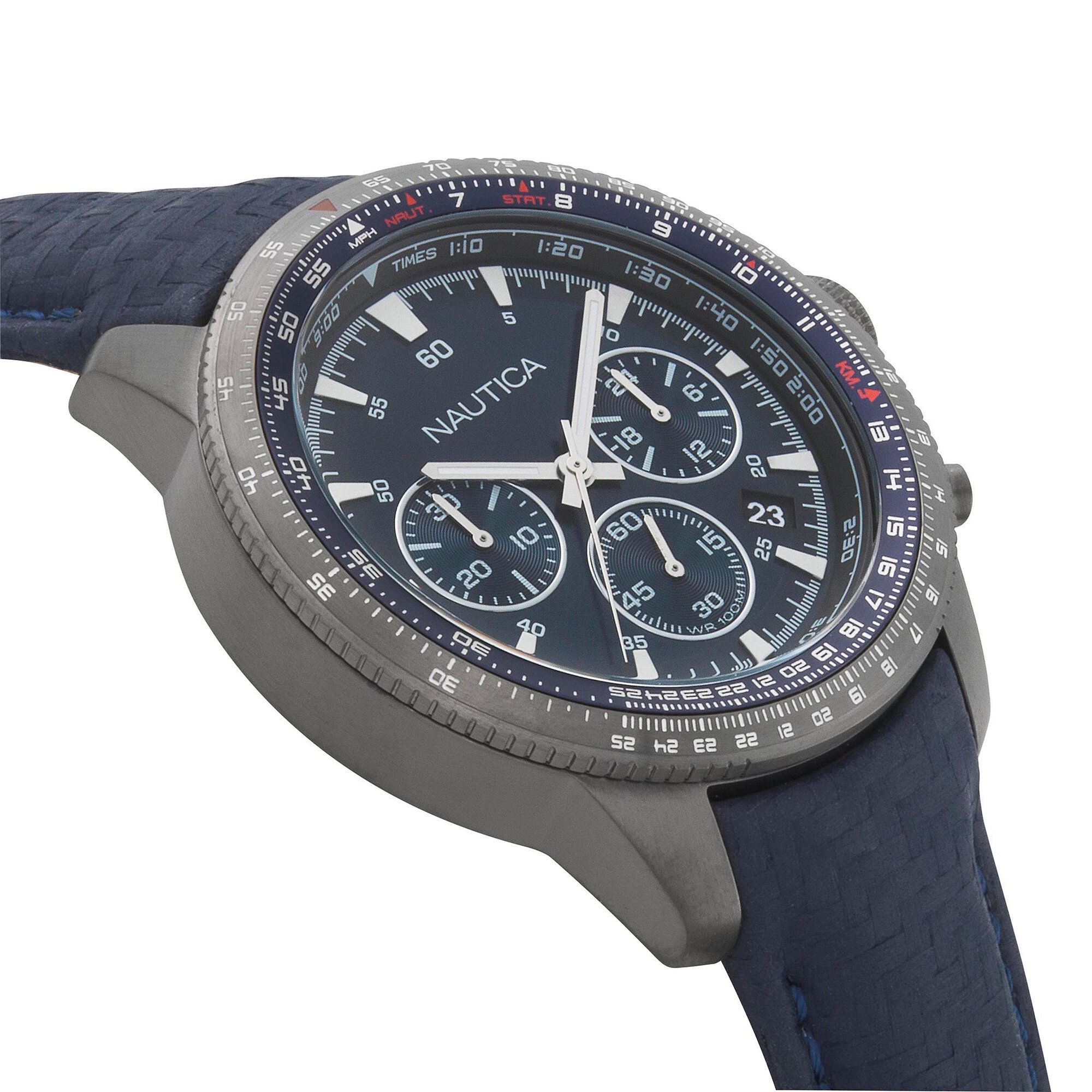 Chronograph Band Pier Watch With Leather 39 6gfb7y