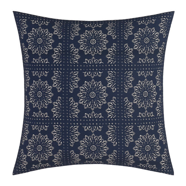 Lockridge Square Throw Pillow,Pure Dark Pacific Wash,large