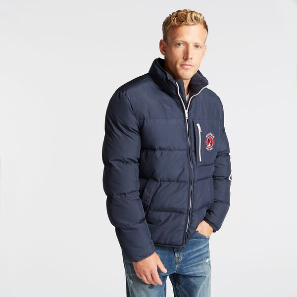 BIG & TALL TEMPASPHERE WATER-RESISTANT PUFFER - Navy