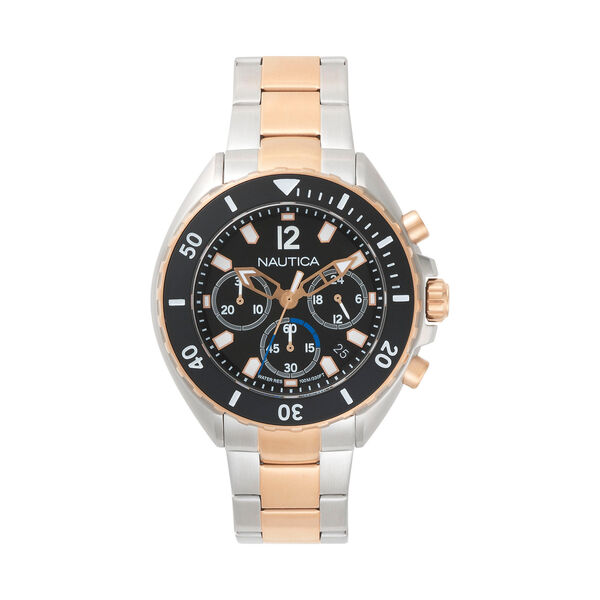Newport Stainless Steel Two-Tone Watch - True Black