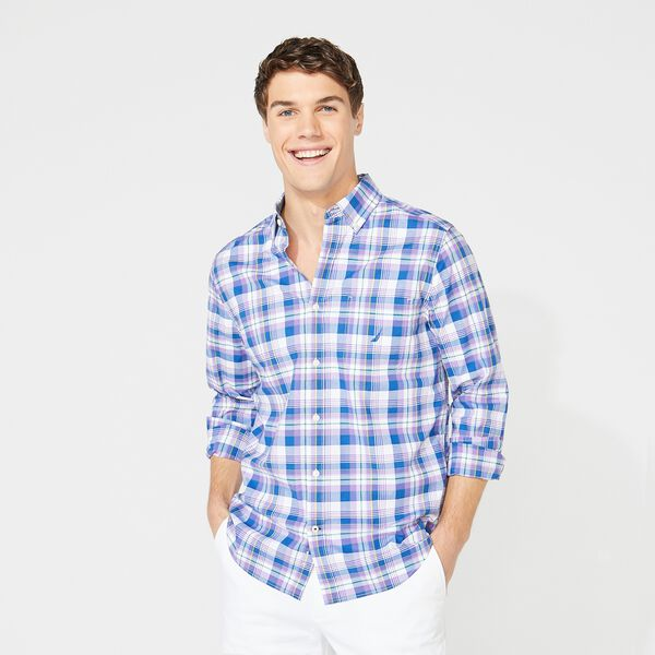 CLASSIC FIT PLAID SHIRT - Ocean Violet