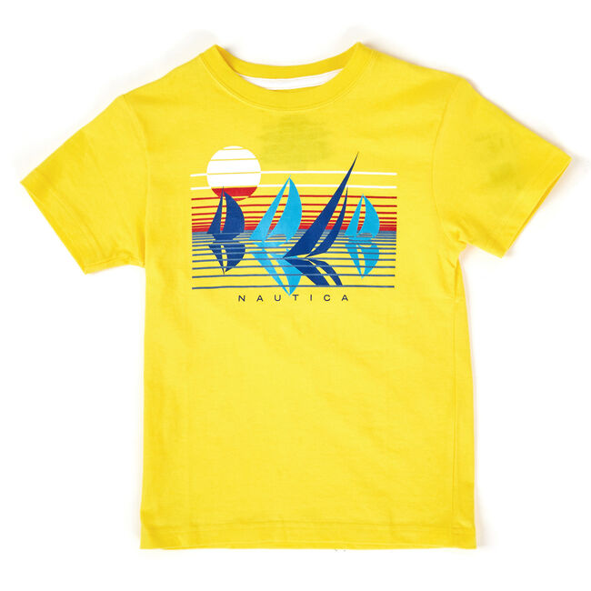 Little Boys' Ray Tropical Graphic Tee (4-7),Firefly,large