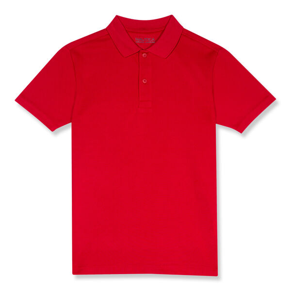 BOYS' PERFORMANCE POLO (8-20) - Cardinal