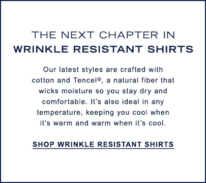 The Next Chapter in Wrinkle Resistant Shirts