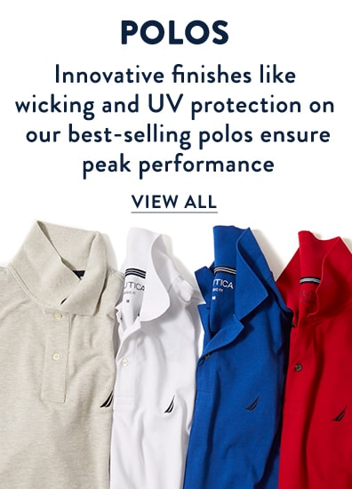 Mens Golf Shirts - innovative finishes like wicking and UV protection on our best-selling golf polos ensure peak performance.