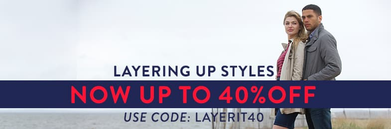 40% off layers