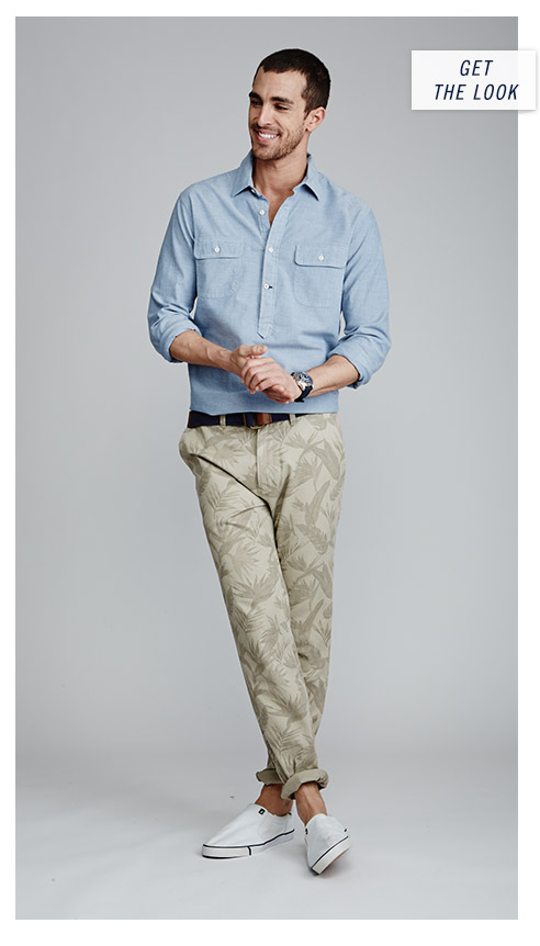 The Look - Printed Twill Pant