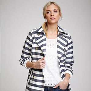 The Engineered Stripe Trench Coat