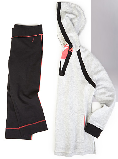 Terry Hoodie and Cropped Yoga Pants