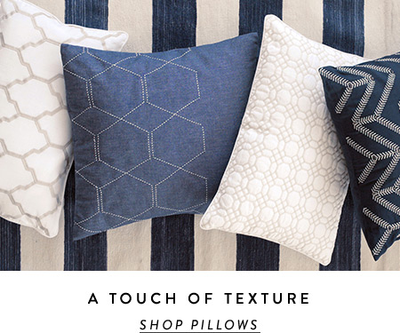 Pillows a touch of texture