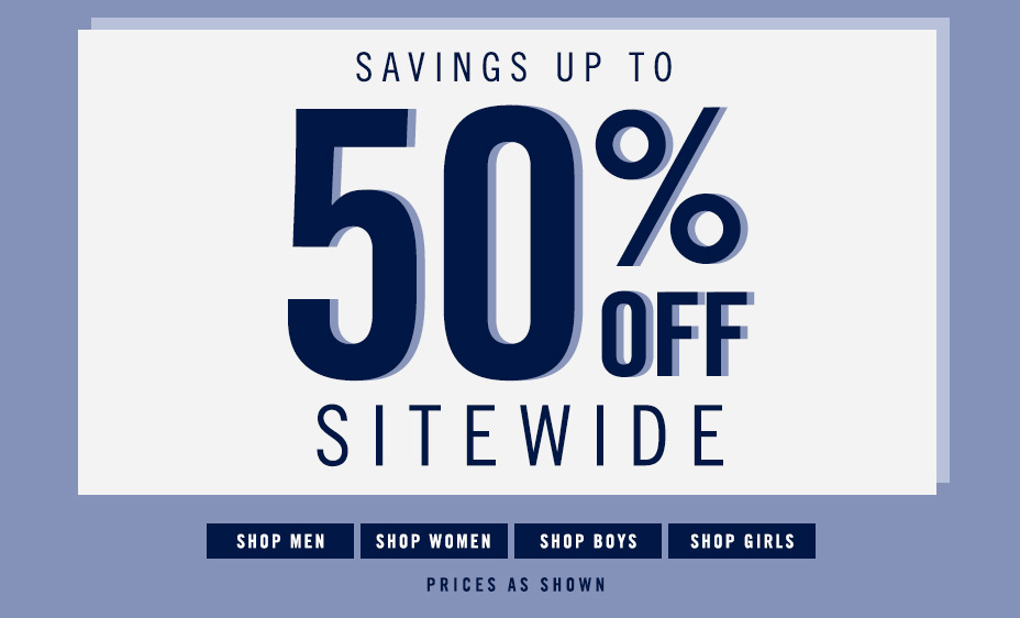 50% Off Site Wide