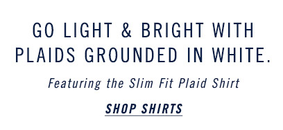 Go Light & Bright With Plaids Grounded In White - Shop Shirts