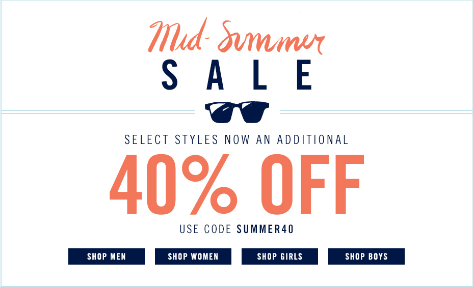 Mid Summer sale. 40% off