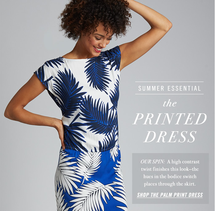 The Printed Dress - Shop the Palm Print Dress
