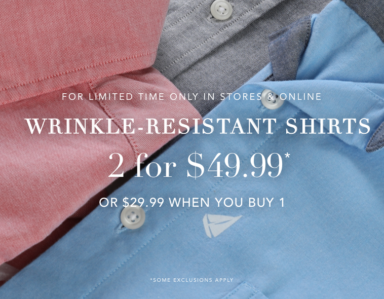 Shirts 2 for $49.99